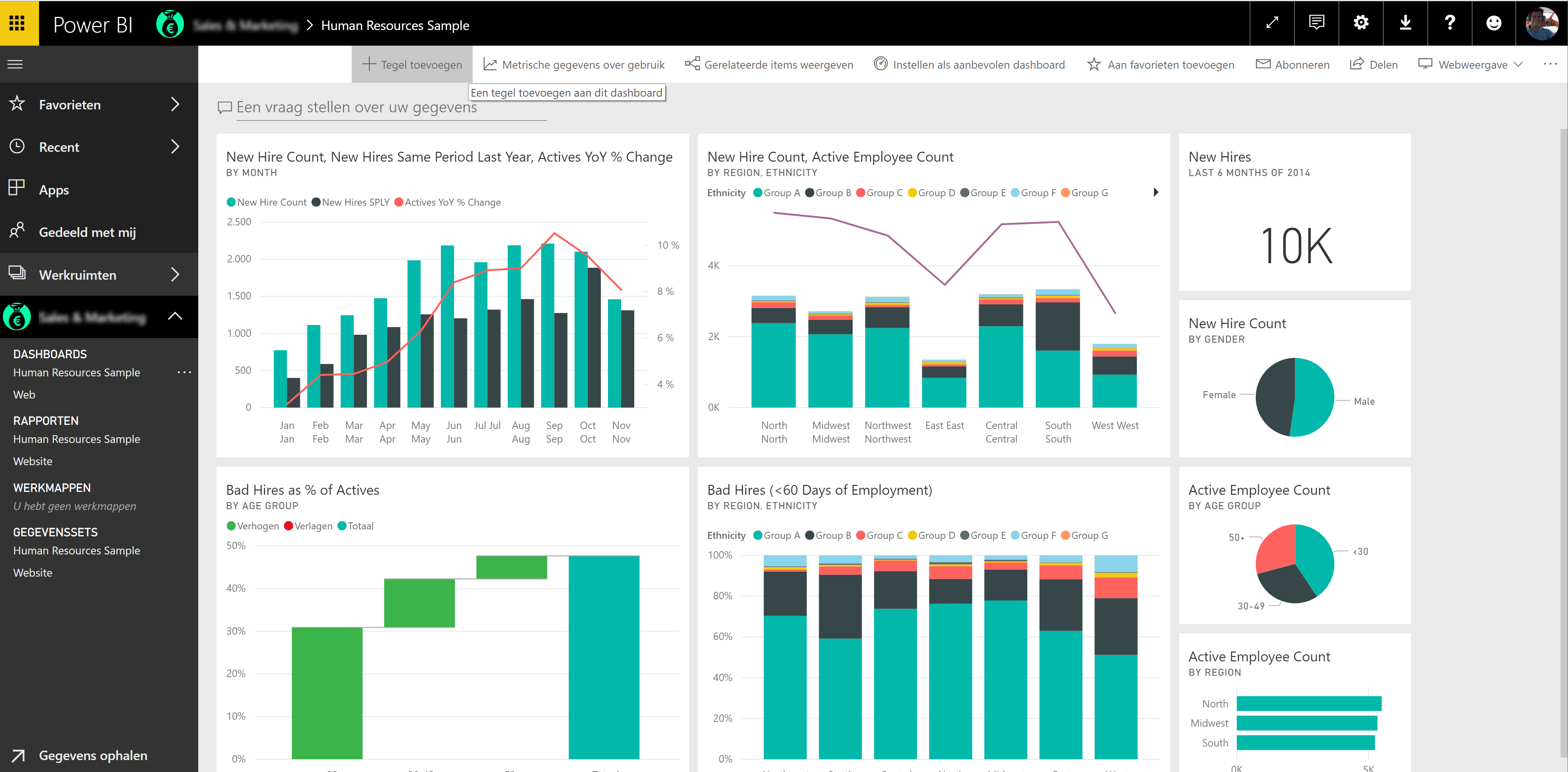HRM Dashboard in Power BI