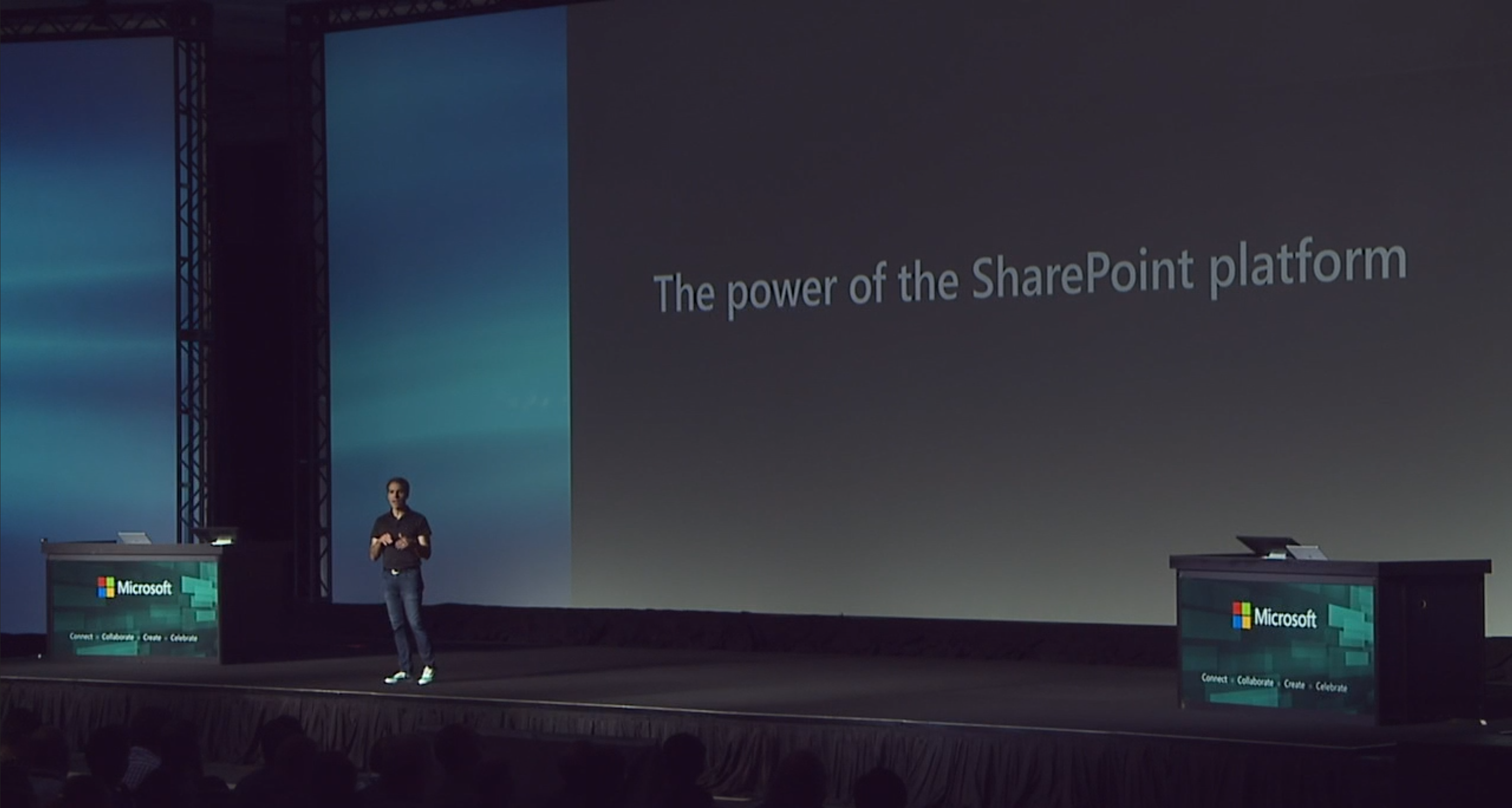 Jef Teper, Corporate Vice-President Microsoft, at the SharePoint Conference 2019